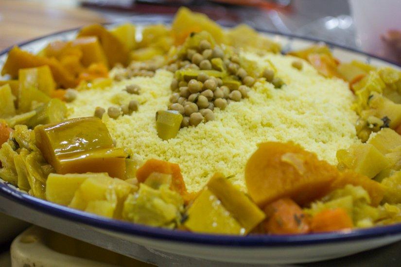 קערת קוסקוס עם ירקות